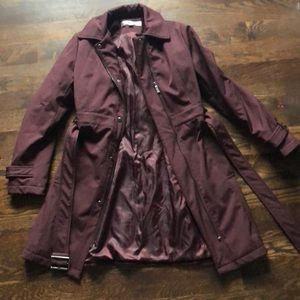 Kenneth Cole Burgundy Trench Coat